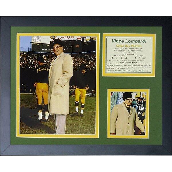 Vince Lombardi Framed Memorabilia by Legends Never Die