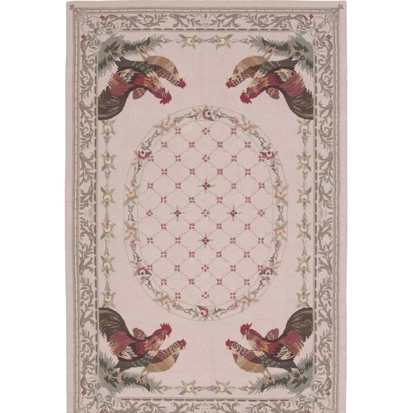 Pipkins Hand-Hooked Beige Area Rug by August Grove