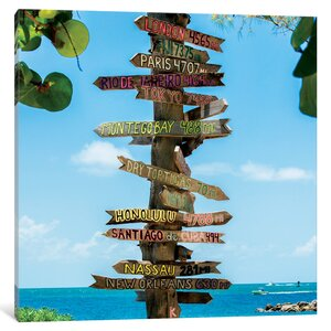 Key West Directional Sign IV by Philippe Hugonnard Photographic Print on Wrapped Canvas by East Urban Home