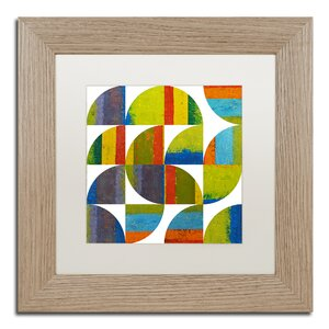 Quarter Rounds 2.0 by Michelle Calkins Framed Painting Print by Trademark Fine Art