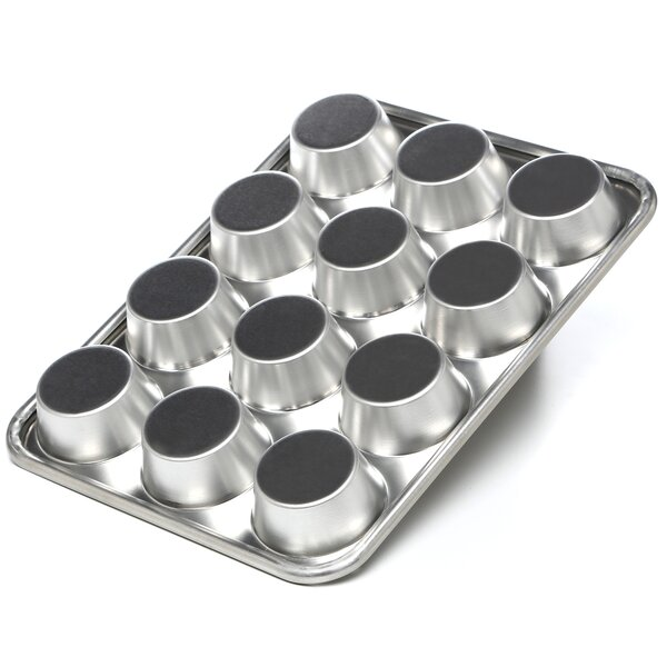 Natural Commercial Nonstick 12 Cup Muffin Pan by Nordic Ware