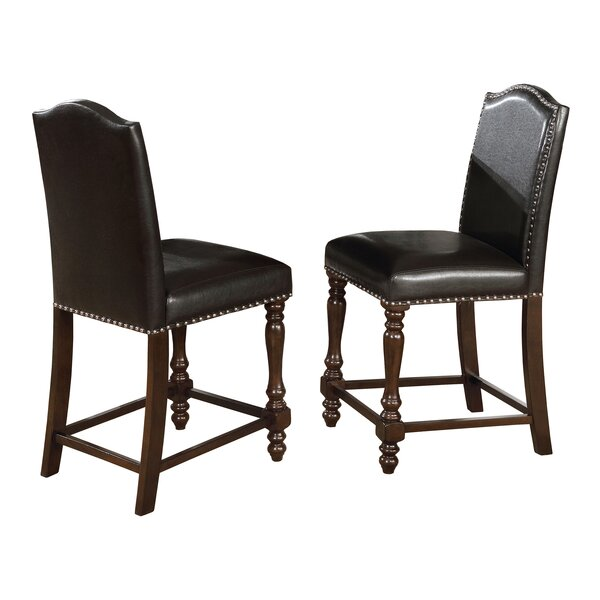 Heady Counter Height Upholstered Dining Chair (Set of 2) by Charlton Home