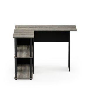 Surprising Gray Wood Shelf L Shaped Desks Youll Love Wayfair Download Free Architecture Designs Intelgarnamadebymaigaardcom