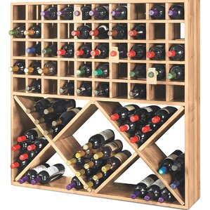Jumbo Bin Grid 100 Bottle Floor Wine Rack by Wine Enthusiast
