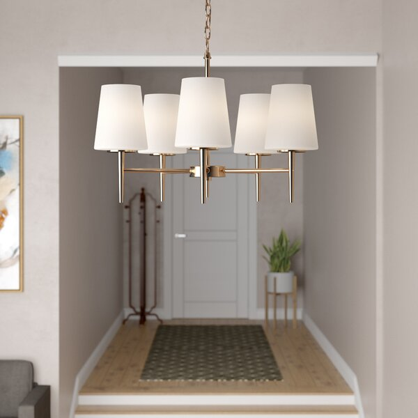 Ganador 5-Light Shaded Chandelier by Langley Street