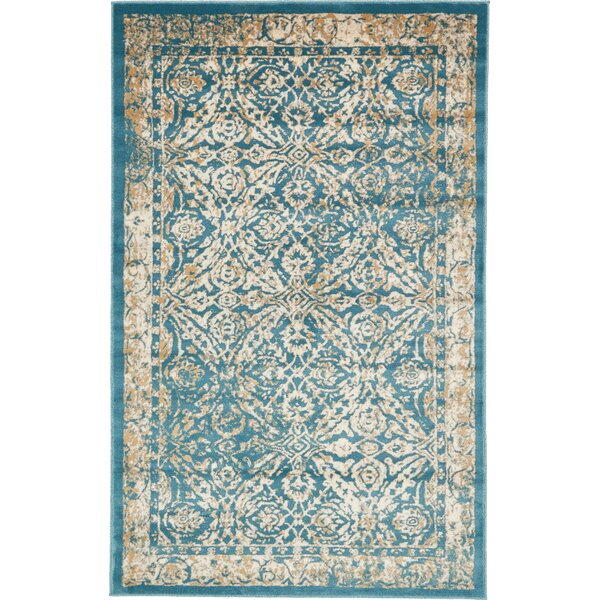 Annin Teal Area Rug by Bungalow Rose