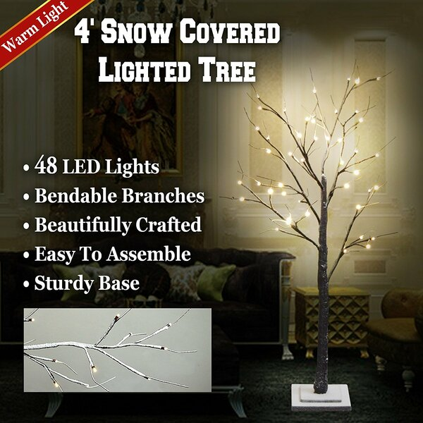 Snow Tree Snow Flake Decoration 48 Light Bulb by The Holiday Aisle