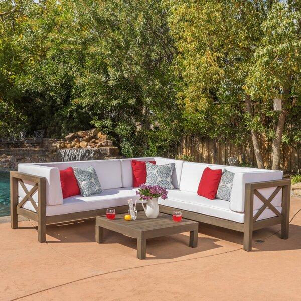 Lejeune 4 Piece Sofa Set with Cushions by Lark Manor
