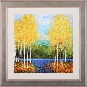 Inlet Grove by Melissa Graves-Brown Framed Painting Print by Art Effects