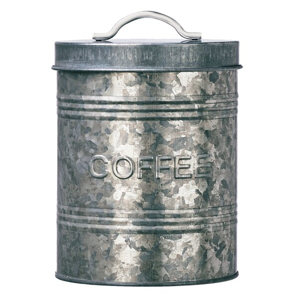Rustic Kitchen Galvanized Metal 2.2 qt. Coffee Jar by Global Amici