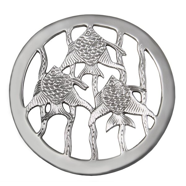 Flint 3 Fish Trivet (Set of 2) by Rosecliff Heights
