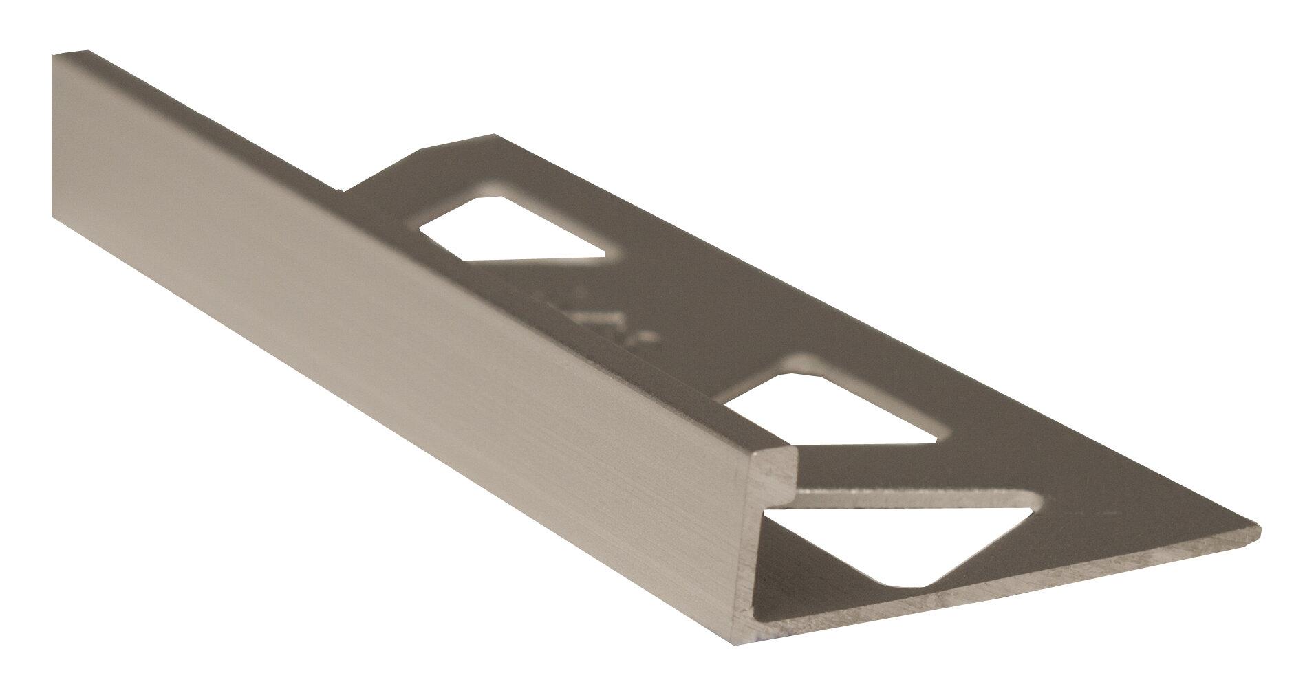 Wildon Home Metal Edge Trim Tile Trim In Titanium Wayfair