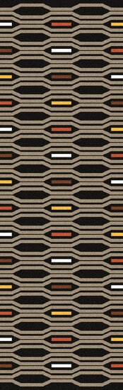 Litchfield Hand Woven Wool Black Olive Area Rug by George Oliver