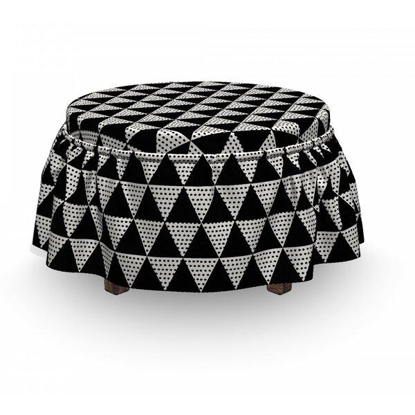 Monochrome Geometric Ottoman Slipcover (Set Of 2) By East Urban Home