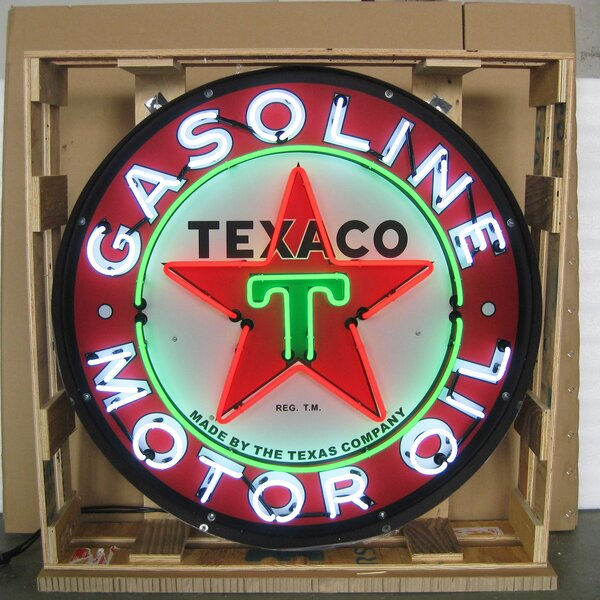 Texaco Motor Oil Neon Sign by Neonetics