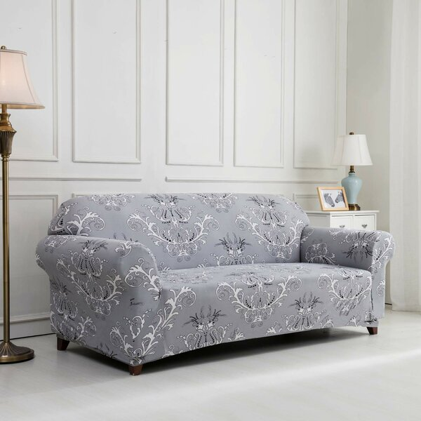 Printed Floral Box Cushion Loveseat Slipcover by House of Hampton