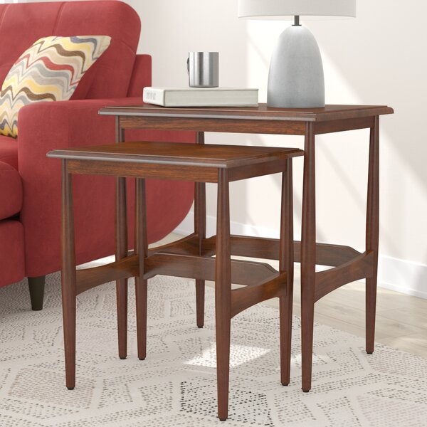 Cavitt Mid-Century Modern 2 Piece Nesting Tables by Latitude Run
