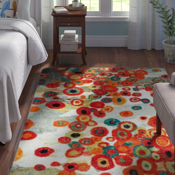 Adaline Tossed Floral Multi Printed Area Rug by Andover Mills