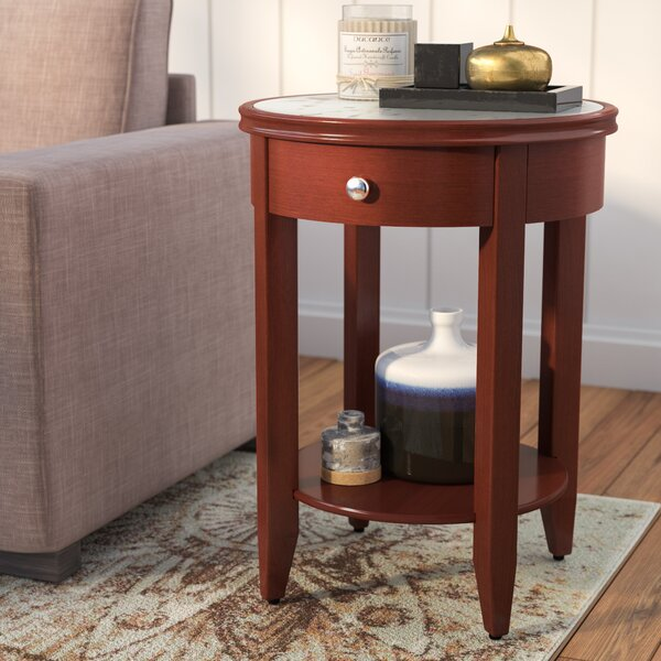 Steinman End Table with Storage by Charlton Home