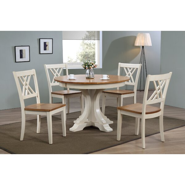 Alisha 5 Piece Solid Wood Dining Set by Alcott Hill