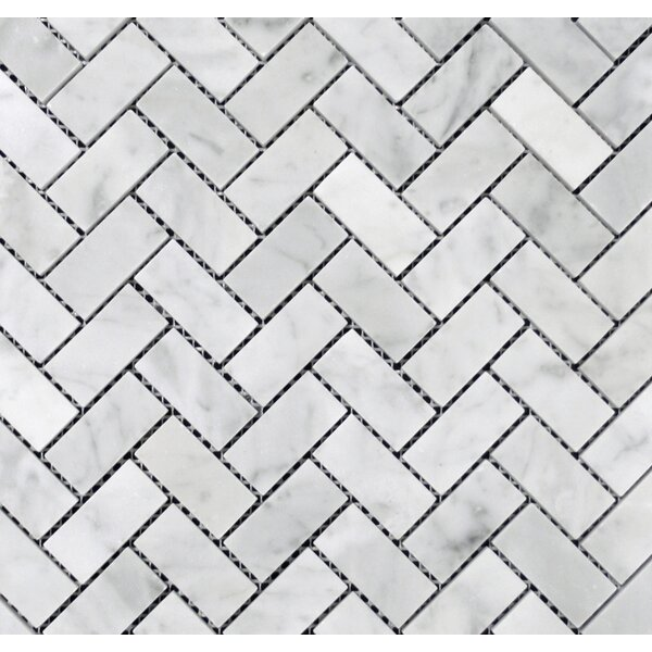 1 x 2 Mosaic Tile in Bianco Carrara by Ephesus Stones