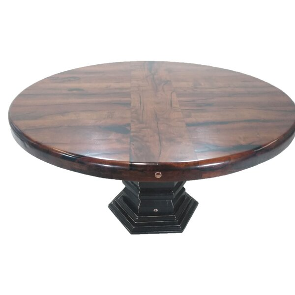 Humes Elegant Solid Wood Dining Table by Fleur De Lis Living