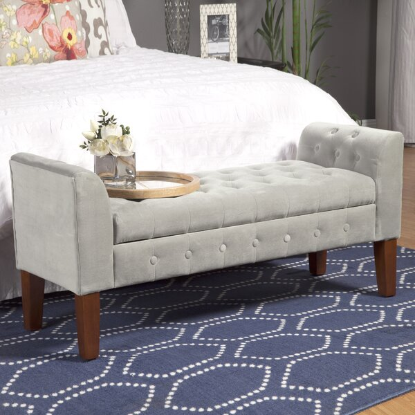 Wilford Upholstered Storage Bench by Three Posts