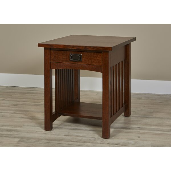Linnea 1 Drawer End Table with Storage by Millwood Pines