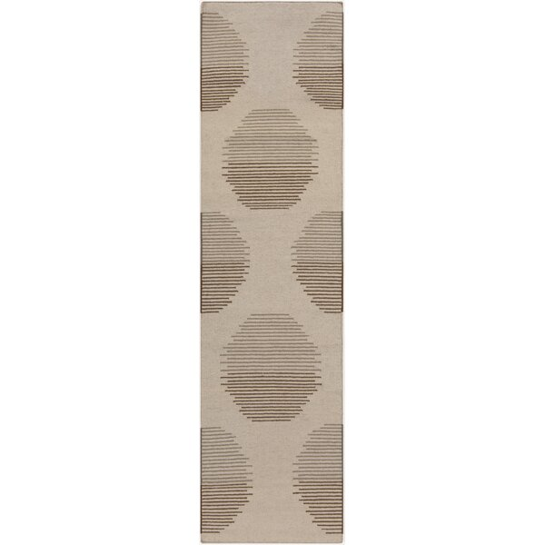 Donley Ivory Geometric Area Rug by Wrought Studio