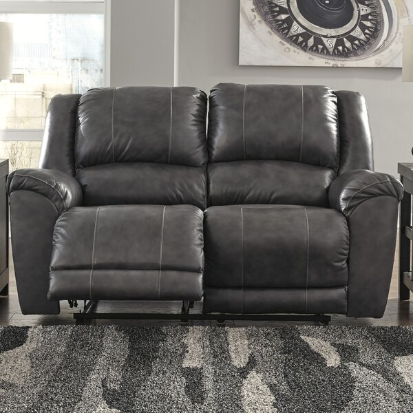 New Trendy Waterloo Reclining Loveseat by Darby Home Co by Darby Home Co