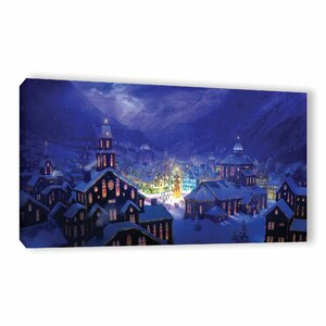 Christmas Town by Philip Straub Graphic Art on Wrapped Canvas by ArtWall