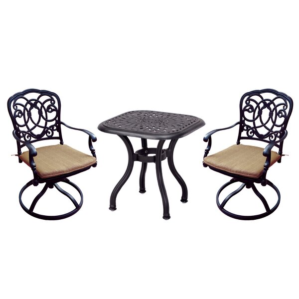 Battista 3 Piece Conversation Set with Cushions by Fleur De Lis Living