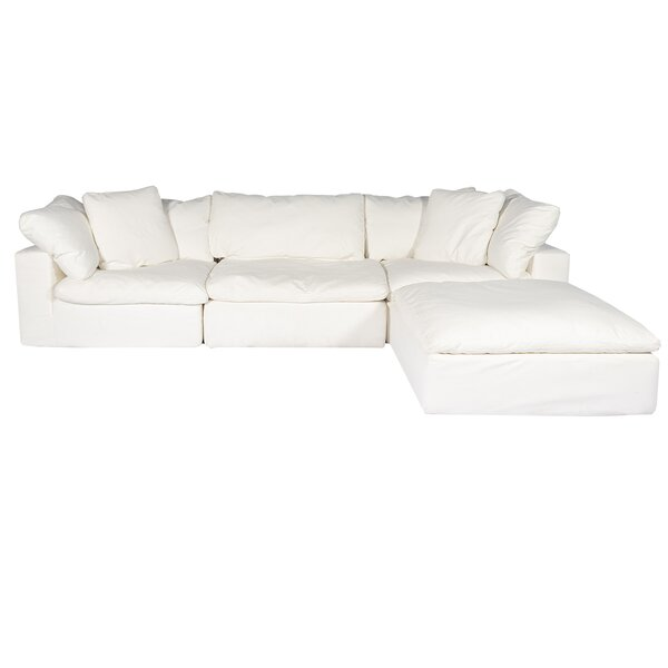 Discount Fairwood Right Hand Facing Modular Sectional With Ottoman