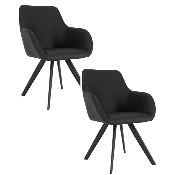 Mono Upholstered Dining Chair (Set of 2) by Brayden Studio Brayden Studio