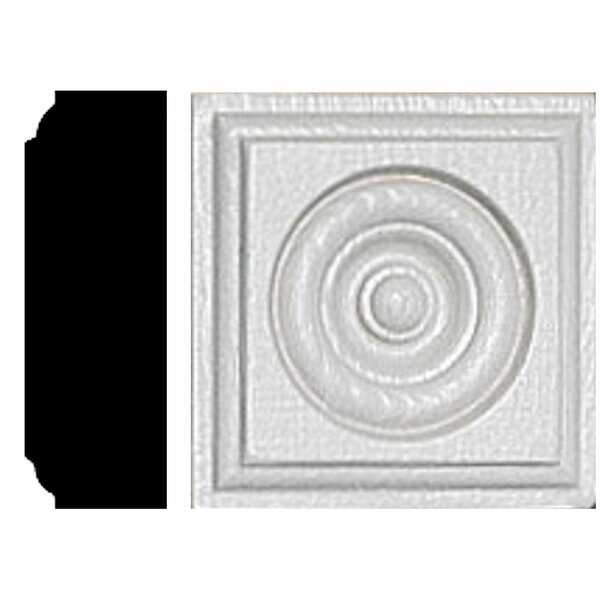 7/8 in. x 2-1/2 in. x 2-1/2 in. MDF Rosette Block Moulding by Manor House