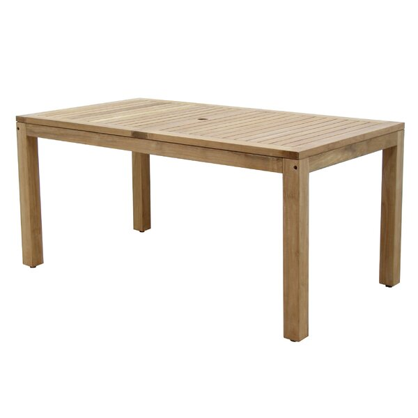 Bridgepointe Teak Wood Dining Table by Rosecliff Heights