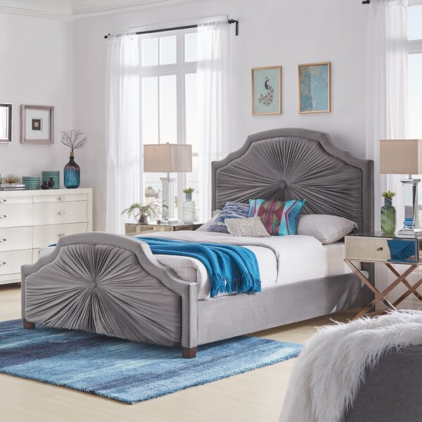 Nolia Upholstered Standard Bed by House of Hampton