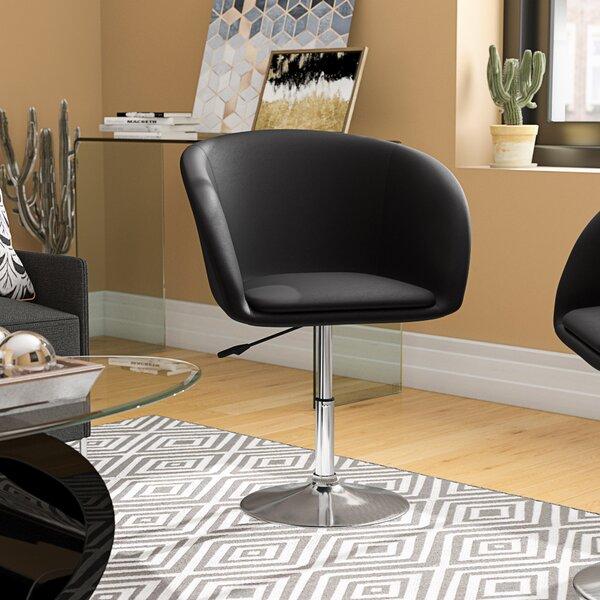 Mcphee Adjustable Swivel Barrel Chair by Wade Logan