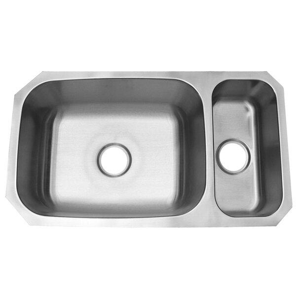 31 L x 18 W Double Basin Undermount Kitchen Sink