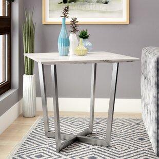 Rosenbalm Faux Marble End Table by Brayden Studio