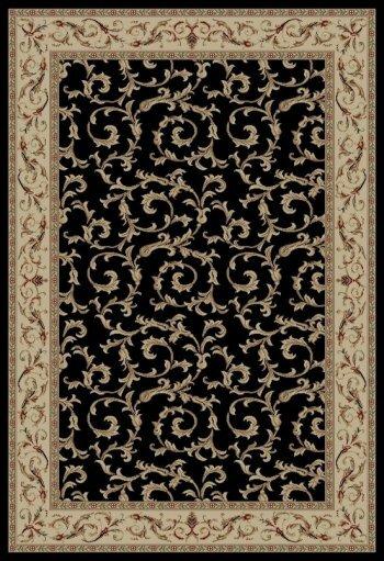 Jewel Veronica Black Floral Area Rug by Threadbind