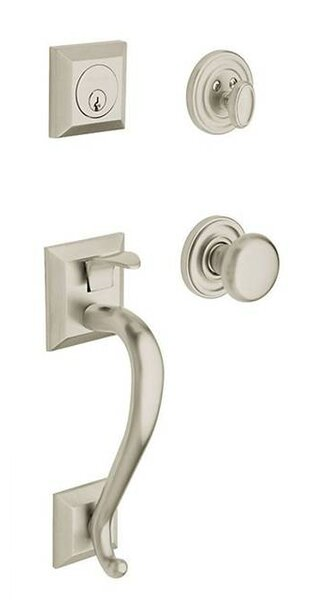 Madison Full Dummy Handleset with Interior Knob and Sectional Trim by Baldwin