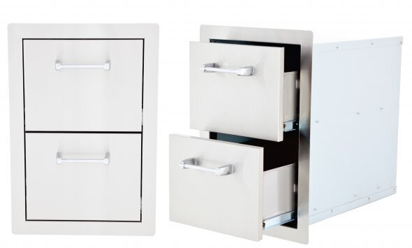 Double Drawer by Lion Premium Grills