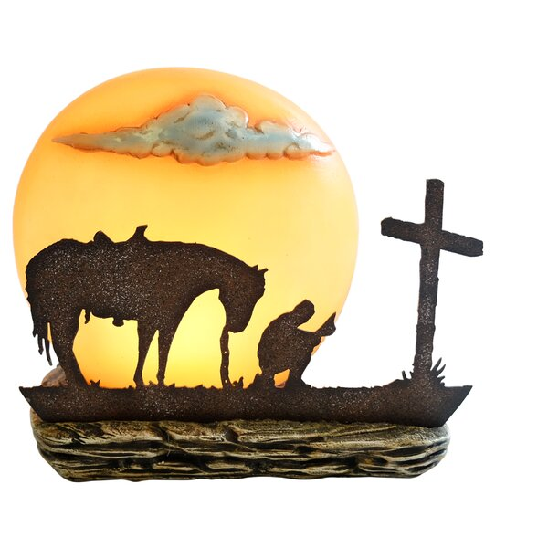 Praying Cowboy Night Light by De Leon Collections