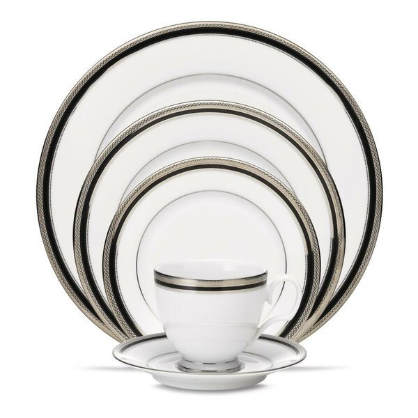Austin Platinum Bread and Butter Plate 20 Piece Set by Noritake
