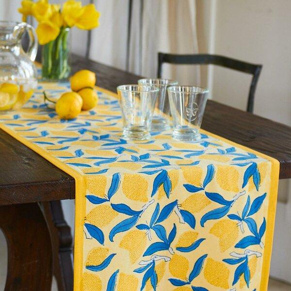 Lemon Tree Table Runner by Couleur Nature