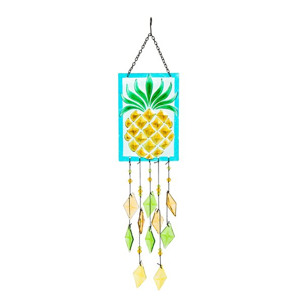 Schefflera Pineapple Suncatcher by Bay Isle Home