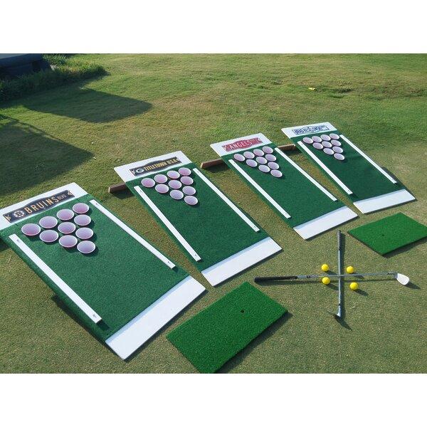 The Original Backyard Golf Cornhole Board Set by Beer Pong Golf