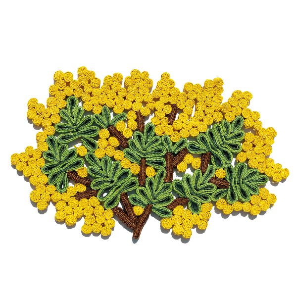 Florigraphie Mimosa Straw Table Mat by Seletti