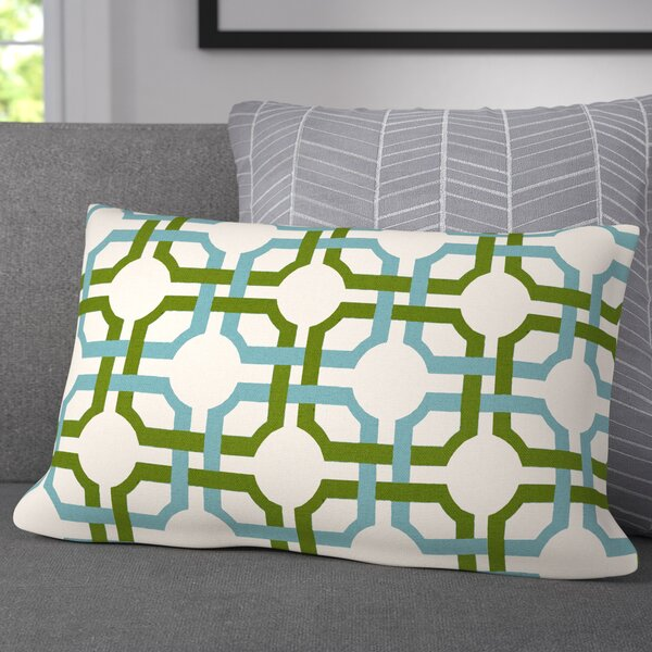 Jamaal Groovy Grille Cotton Lumbar Pillow by Corrigan Studio